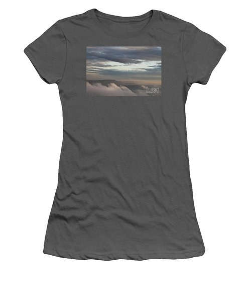 Women's T-Shirt (Junior Cut) featuring the photograph Sunrise In The Mountains by Jeannette Hunt