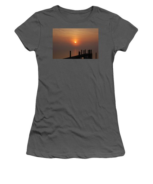 Sunrise On The River Women's T-Shirt (Athletic Fit)