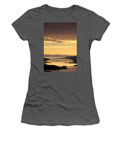 Sunset Over Water, Argyll And Bute Women's T-Shirt (Junior Cut) by John Short