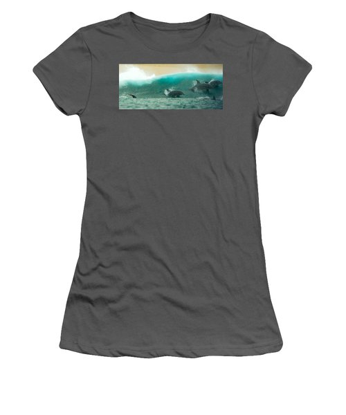 Swim Thru Women's T-Shirt (Athletic Fit)