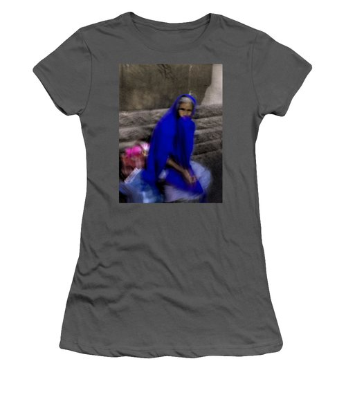 The Blue Shawl Women's T-Shirt (Junior Cut) by Lynn Palmer
