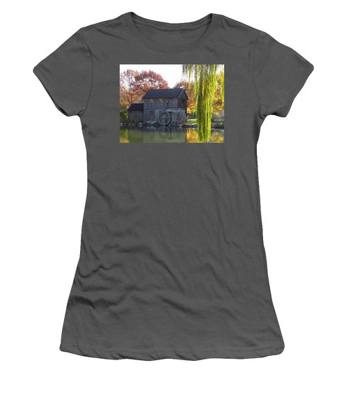 Women's T-Shirt (Junior Cut) featuring the photograph The Millhouse by Julia Wilcox