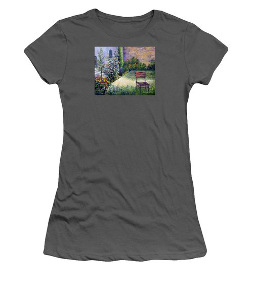 Women's T-Shirt (Junior Cut) featuring the painting The Unseen Guest by Lou Ann Bagnall