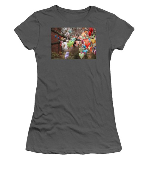 Tree Hearts Women's T-Shirt (Athletic Fit)