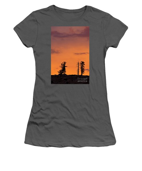 Trees At Sunset Women's T-Shirt (Athletic Fit)