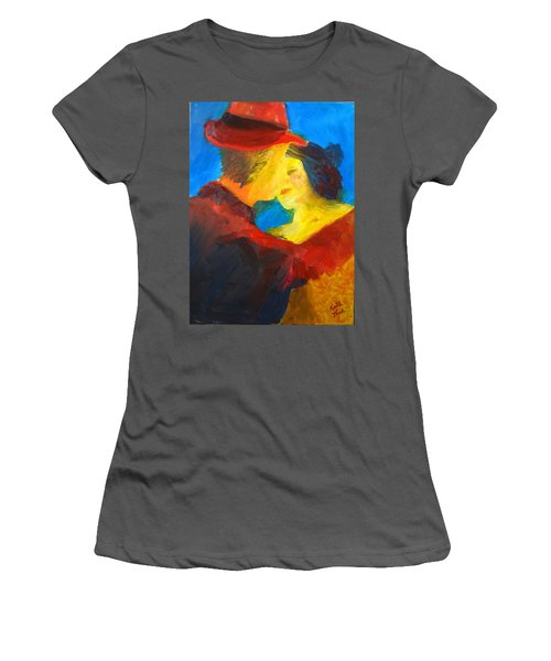 Women's T-Shirt (Junior Cut) featuring the painting Two Am Tango by Keith Thue