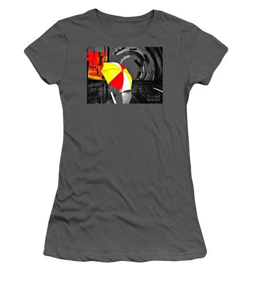 Women's T-Shirt (Junior Cut) featuring the photograph Umbrella 2 by Blair Stuart