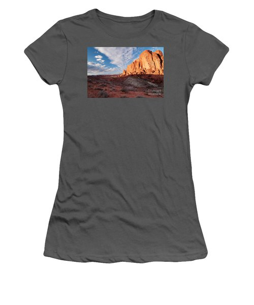 Valley Of Fire Women's T-Shirt (Athletic Fit)