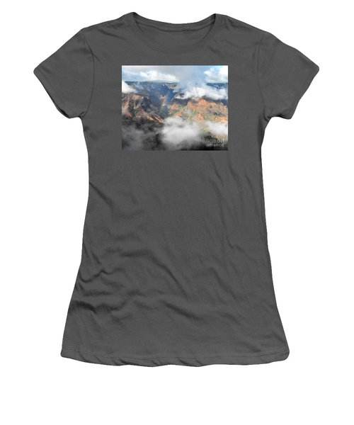 Waimea Canyon Rainbow Women's T-Shirt (Junior Cut) by Rebecca Margraf