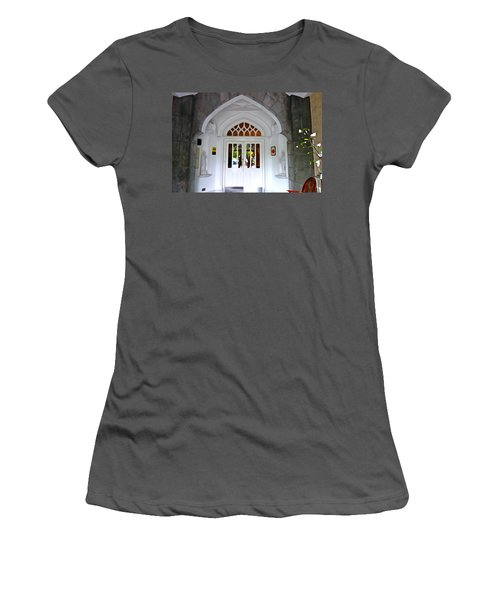 Women's T-Shirt (Junior Cut) featuring the photograph Welcome To The Manor by Charlie and Norma Brock