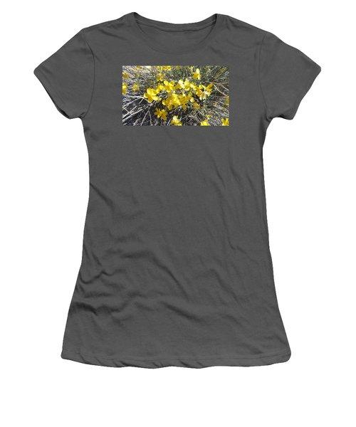 Women's T-Shirt (Junior Cut) featuring the photograph Wild Desert Flowers by Kume Bryant