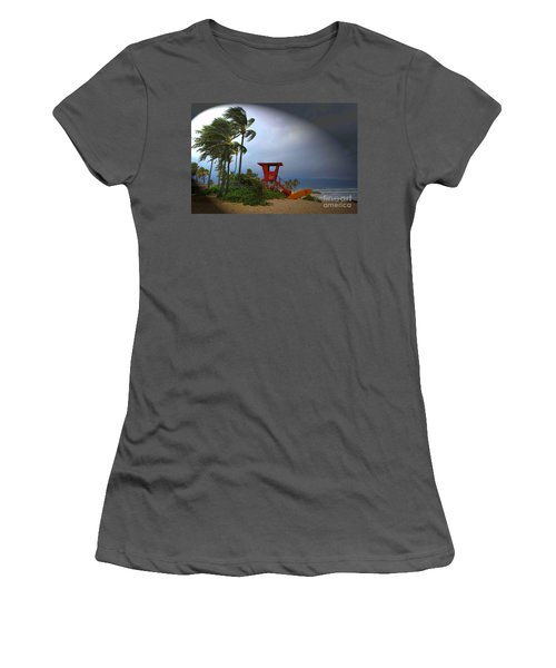 Windy Day In Haleiwa Women's T-Shirt (Junior Cut) by Mark Gilman
