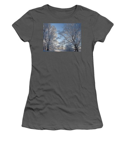 Winter Ice Women's T-Shirt (Athletic Fit)