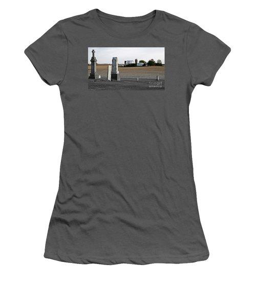 Ye Olde Farmstead Women's T-Shirt (Junior Cut) by Sue Stefanowicz