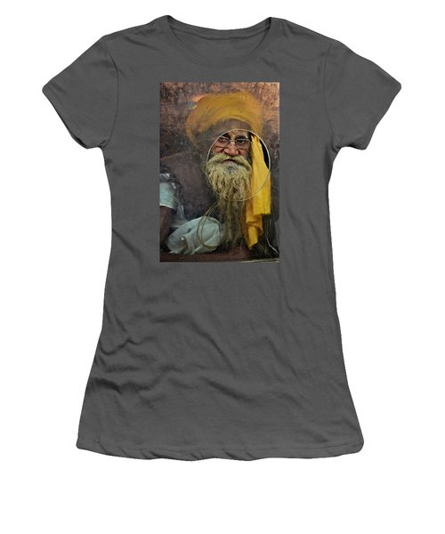 Yellow Turban At The Window Women's T-Shirt (Athletic Fit)