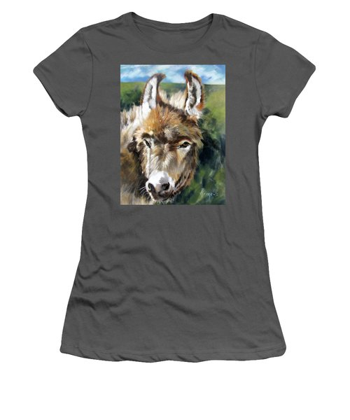 You Want To Pin The Tail On The What Women's T-Shirt (Junior Cut) by Rae Andrews