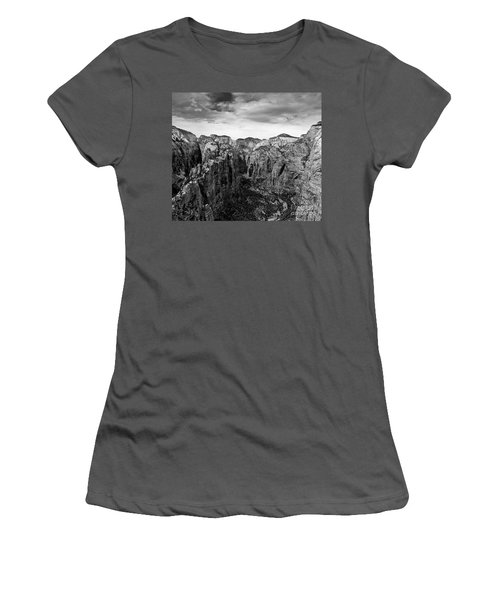 Zion National Park - View From Angels Landing Women's T-Shirt (Athletic Fit)