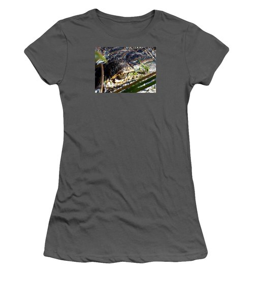 Alligator Eye  Women's T-Shirt (Athletic Fit)