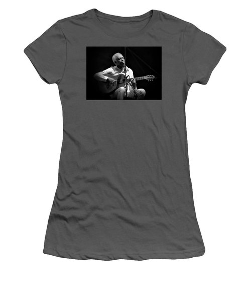 Gilberto Gil   Black And White Women's T-Shirt (Athletic Fit)