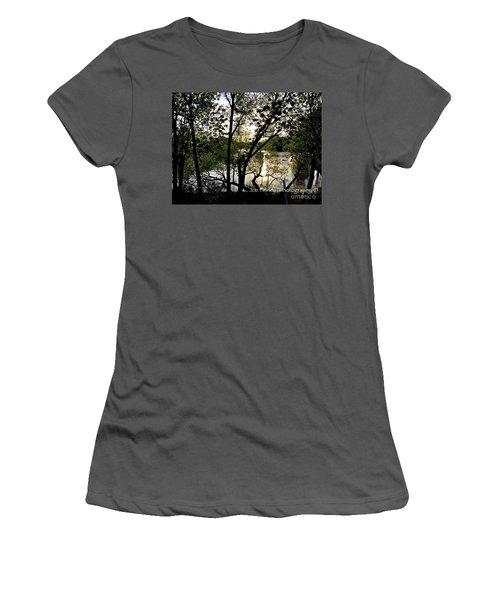 Women's T-Shirt (Junior Cut) featuring the photograph  In The Shadows  - No. 430 by Joe Finney