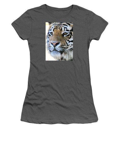 Tiger Portrait  Women's T-Shirt (Athletic Fit)
