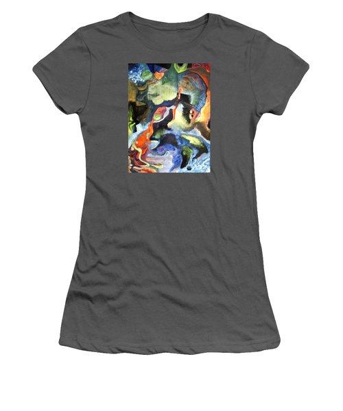 01313 Big Bang Women's T-Shirt (Junior Cut) by AnneKarin Glass