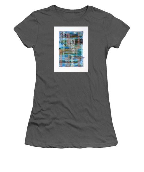 01332 Straight Women's T-Shirt (Junior Cut) by AnneKarin Glass