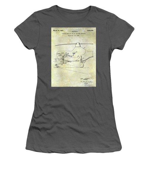 1953 Helicopter Patent Women's T-Shirt (Junior Cut) by Jon Neidert