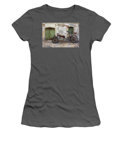 A Carriage On Crisologo Street 2 Women's T-Shirt (Junior Cut) by Joey Agbayani