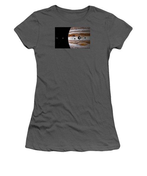 Women's T-Shirt (Junior Cut) featuring the digital art A Sense Of Scale by David Robinson