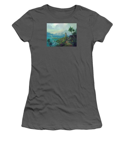 Women's T-Shirt (Junior Cut) featuring the painting A Small Patch Of Heaven by Michael Humphries