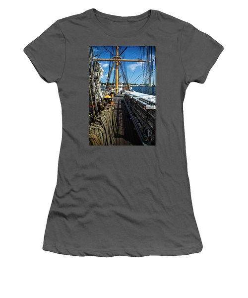 Women's T-Shirt (Junior Cut) featuring the photograph Aboard The Eagle by Karol Livote