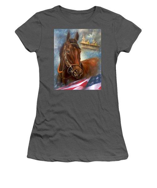 American Pharoah Women's T-Shirt (Athletic Fit)