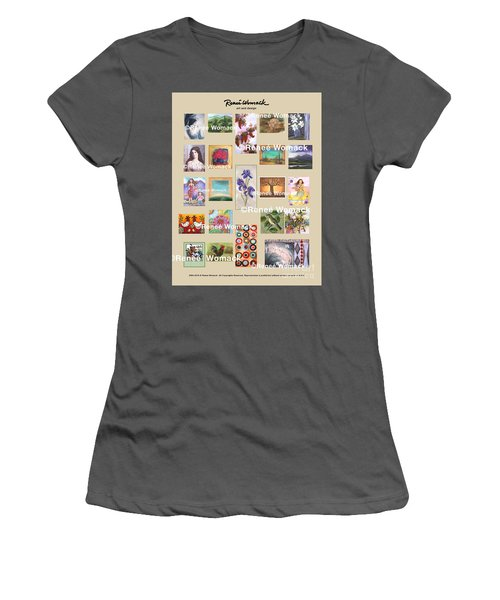 Women's T-Shirt (Junior Cut) featuring the painting Art Collection by Renee Womack