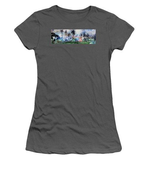 Beautiful South Beach Women's T-Shirt (Junior Cut) by Jon Neidert