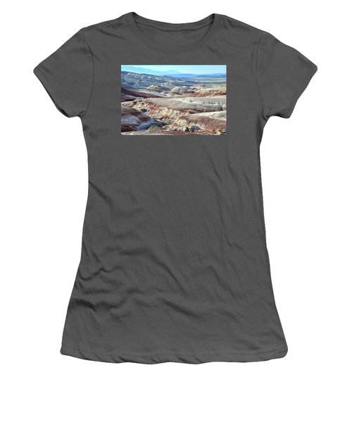 Bentonite Clay Dunes In Cathedral Valley Women's T-Shirt (Junior Cut) by Ray Mathis