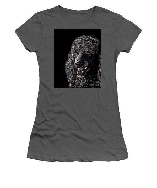 Black Standard Poodle Women's T-Shirt (Athletic Fit)