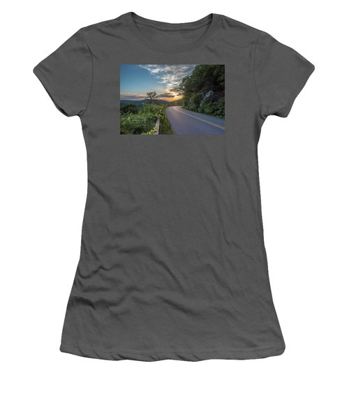 Blue Ridge Parkway Morning Sun Women's T-Shirt (Athletic Fit)
