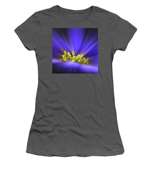 blue Shades - An Anemone Blanda Women's T-Shirt (Junior Cut) by John Edwards