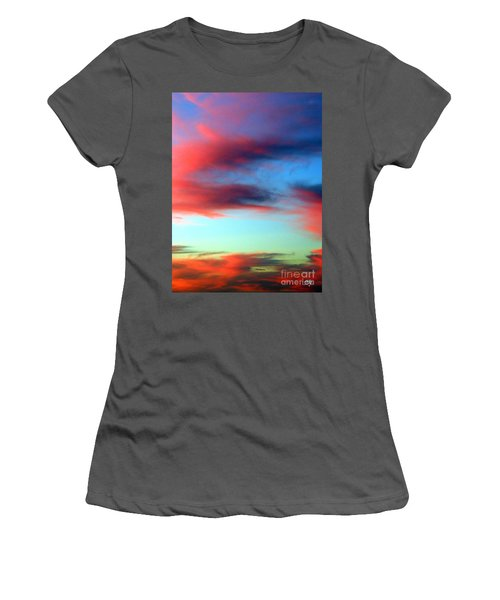 Women's T-Shirt (Junior Cut) featuring the photograph Blushed Sky by Linda Hollis