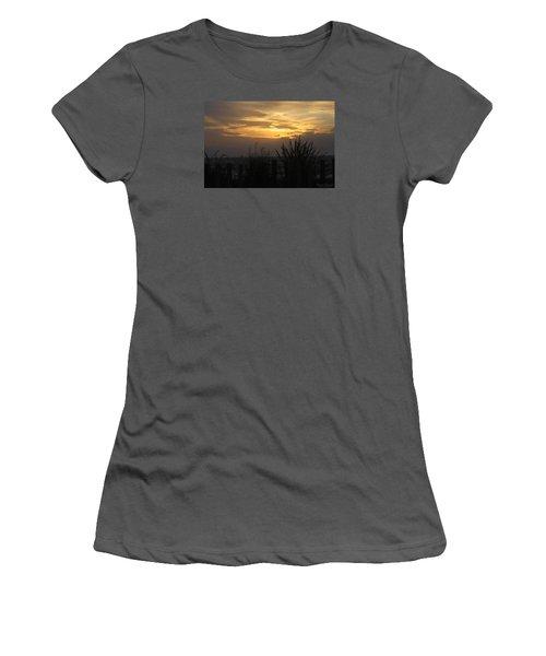 Women's T-Shirt (Junior Cut) featuring the photograph Breaking Dawn by Robert Banach
