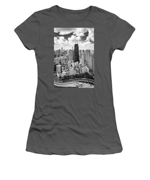 Women's T-Shirt (Athletic Fit) featuring the photograph Chicago's Gold Coast by Adam Romanowicz