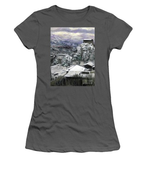 Chiesa San Vito In The Snow Women's T-Shirt (Athletic Fit)
