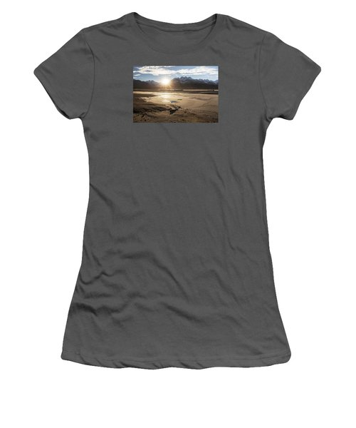 Chilkat River Sunset Women's T-Shirt (Junior Cut) by Michele Cornelius
