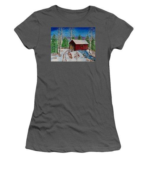 Christmas Bridge Women's T-Shirt (Junior Cut) by Melvin Turner