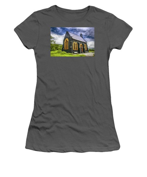 Women's T-Shirt (Junior Cut) featuring the photograph Church by Charuhas Images