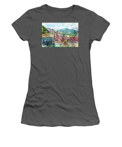 Cinque Terre Italy Women's T-Shirt (Athletic Fit)