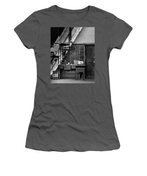 Clocked Out Women's T-Shirt (Junior Cut) by Jeffrey Jensen