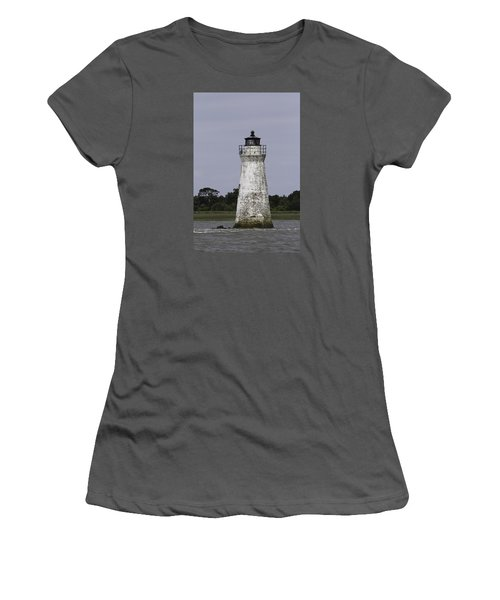 Cockspur Lighthouse Women's T-Shirt (Athletic Fit)