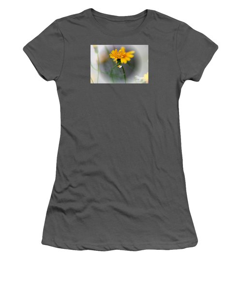 Women's T-Shirt (Junior Cut) featuring the photograph Double Yellow by Yumi Johnson